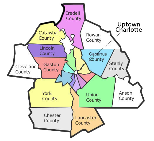 Pet Sitters of Charlotte Service Area